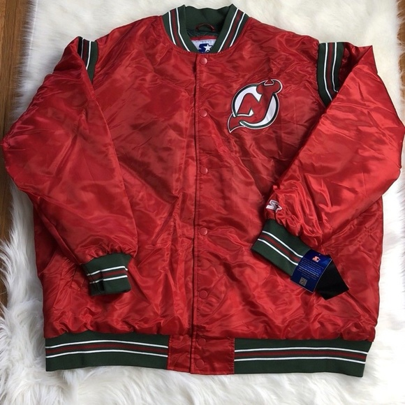 sports shoes ee8ed bbef9 New Jersey Devils STARTER Jacket Big Tall 5XL Men